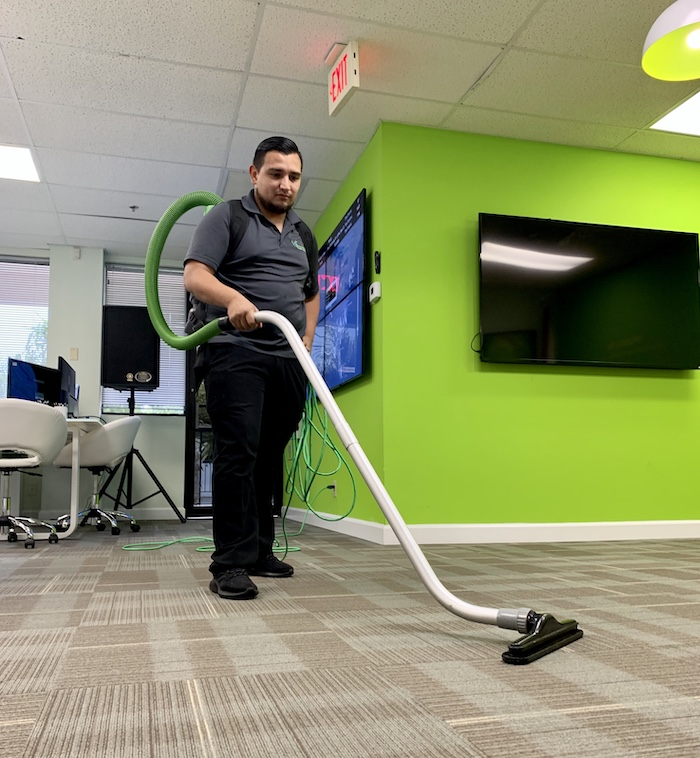 Office Cleaning Service Thorough Vacuuming